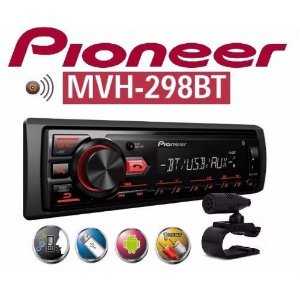Auto Radio Pioneer MVH-298BT Bluetooth  USB AUX RCA  Interface Smartphone