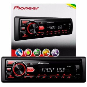 MP3 Player Automotivo Pioneer MVH-98UB 1 Din USB AUX RCA AM FM MP3 WMA Smartphone