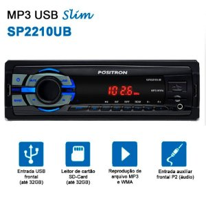 Rádio Midia Player Slim SP2210 UB Pósitron Entrada USB