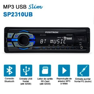 Rádio MP3 Player Positron SP 2310 BT Com Bluethooth