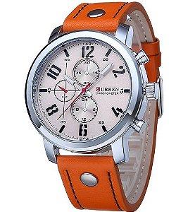 Relógio masculino esportivo de luxo pulseira de couro preço imbatível!