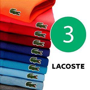 KIT 10 Camisas Polo Lacoste - ZAP Modas 096e71e238677