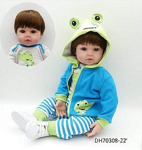 Bebê Reborn Henrique todo em silicone