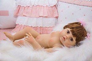 Bebê Reborn Júlia inteira de silicone