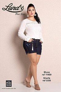 BLUSA PLUS SIZE M/L OFF WHITE REF 11459