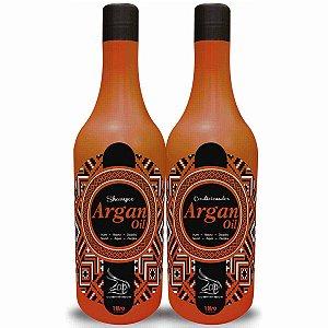 Lavatório Argan Oil Nutre e Repara Shampoo e Condicionador -  Zap Cosméticos (2x1L)