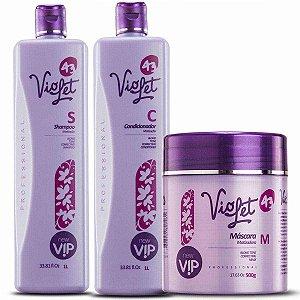 Kit Violet Matizador ( Shampoo + Condicionador + Máscara)