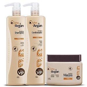 Lavatório Ojon & Argan Vip Cosméticos (Shampoo 1 Litro + Condicionador 1 Litro + Máscara 500g)