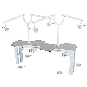 Bancada para Laboratório - Midetronic (4 lugares) - Dentscler