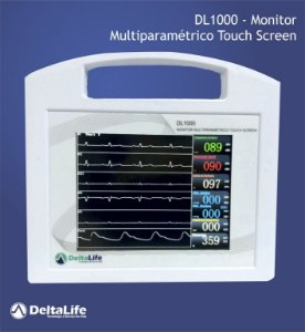 Dl1000 - Monitor multiparamétrico touch screen vet - DeltaLife