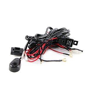 Chicote Elétrico p/ Instalação de Farol Auxiliar e Barra de LED com Controle 12V e 24V