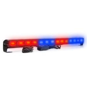 Giroflex Barra LED 42w Azul Vermelho - Farol Sinalização Carro Oficial Polícia PM Ronda 80cm 12V