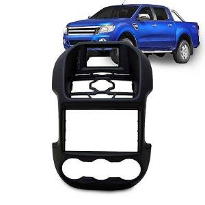 Moldura Painel 2 Din para Central Dvd Ford Ranger 2012 / 2013