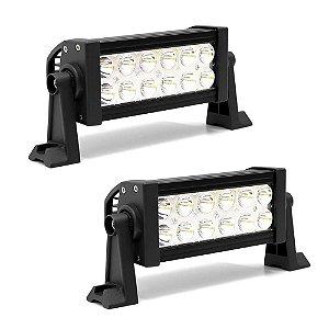 Farol Barra de LED 36w 12 LEDs Epistar Foco Spot 19,5cm 7,5 Pol - PAR