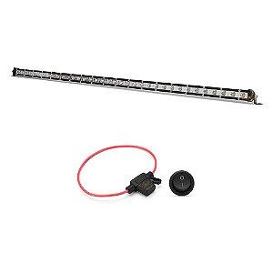 Farol de Milha Barra LED 108w 36 LEDs CREE Slim Fina 98cm 40 Pol