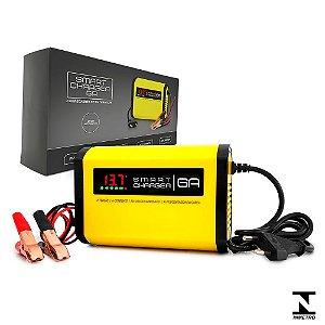 Carregador de Bateria Automotivo Smart Charger 6A Inteligente - Bivolt - 12V