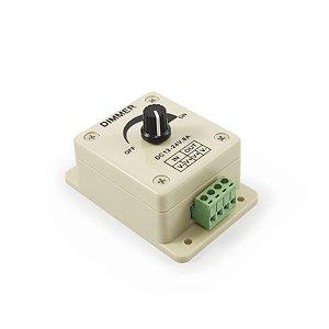 Dimmer Potenciômetro p/ Regular a Intensidade Brilho Farol Fita Barra de LED 12V 24V até 120w
