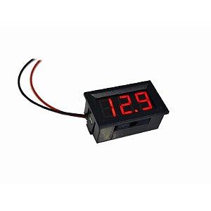 Voltímetro Digital Automotivo  de Painel Importado - Vermelho -  5 À 30 Volts
