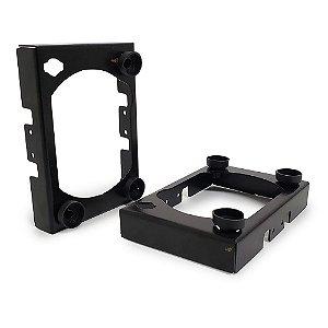 Suporte Adaptador Metal para Farol 7 Polegadas - Novo e Antigo Troller T4 - Par