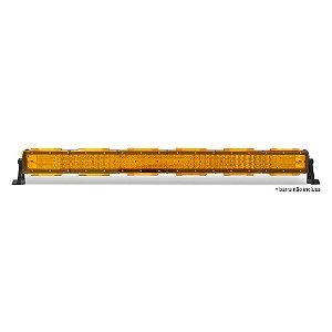 Kit 06 Lente Ambar Capa p/ Barra de LED 91cm 36 Pol - Neblina - Sinalização
