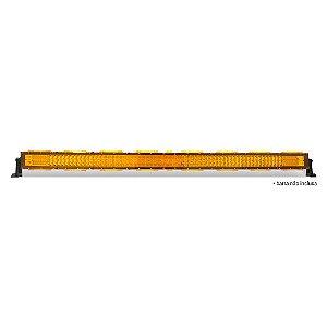 Kit 09 Lente Ambar Capa p/ Barra de LED 127cm 50 Pol - Neblina - Sinalização