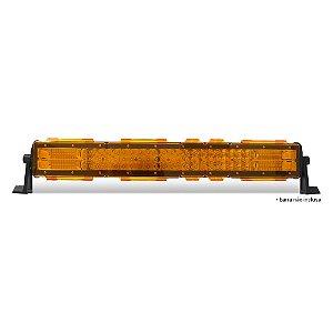 Kit 05 Lentes Ambar p/ Barra de LED 58cm 23 pol - Neblina Atenção Sinalização