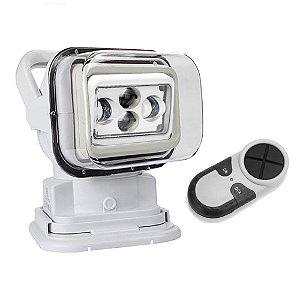 Farol de LED Luz Milha 60W Gira 360º + Controle - Farol de Barco - Busca - Localização - Caça / Pesca / Off Road