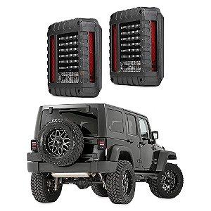 Lanterna Traseira Sinaleira Led para Jeep Wrangler Jk 2007 à 2017 - Par
