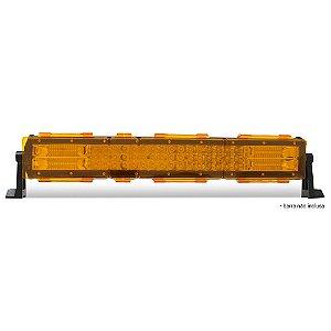 Kit 04 Lentes Ambar Capa p/ Barra de LED 52cm 20 Pol - Neblina - Sinalização