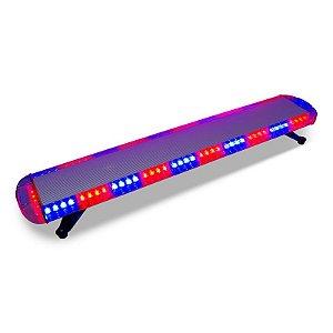 Giroflex 118cm Pro - LED Duplo - Plataforma Guincho Reboque Sinalização 12V-24V - Vermelho + Azul