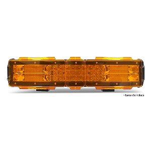 Kit 03 Lentes Âmbar Capa p/ Barra de LED 38cm 15 Pol - Neblina - Sinalização