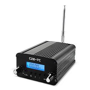 Transmissor FM CZE 7C 7 Watts p/ Radio Comunitária Campeonato Som Eventos