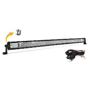 Barra de LED MOD LEDs 50 Pol 133cm RETA 7D 684W 61560Lm Farol Milha Abertura 150º - Suporte Lateral + Chicote