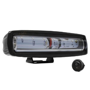 Farol de LED Sinalizador Luz da Via p/ Empilhadeira 6 Pol 15cm 20w Vermelho + Botão - Und
