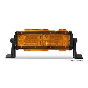 Kit 02 Lentes Âmbar Capa p/ Barra de LED 25cm 11 Pol - Neblina - Sinalização - Atenção