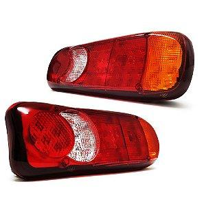 Lanterna Traseira Sinaleira de LED Caminhão Carretinha Luz Ré Freio Seta 35cm 12-24V - Par