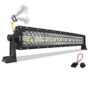 Barra LED 22 Pol 56cm 8D 390W 35100Lm Combo + Fuse + Botão - CURVA