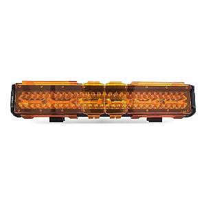 Kit 04 Lentes Âmbar Capa p/ Barra de LED 45cm 17 Pol - Neblina - Sinalização - Atenção