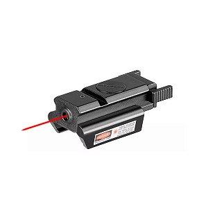 Mira laser perfil baixo red sight para trilhos 22mm - Vermelho