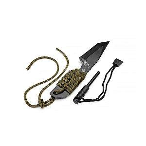 Faca Jiboia com pederneira e Paracord - BR FORCE