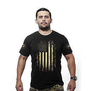 Camiseta estampada E.U.A Defense Gold line - Team six