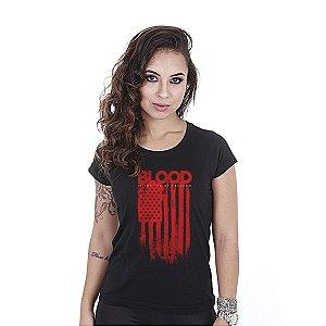 Camiseta feminina baby look Blood - Team six