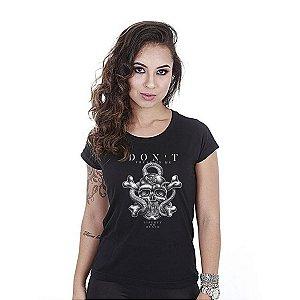 Camiseta feminina baby look Don't tread on me - Team six