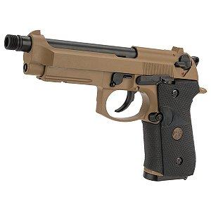 Pistola de airsoft Beretta M9 Navy Desert WE á gás (GBB) Blowback/Full metal - Cal. 6mm