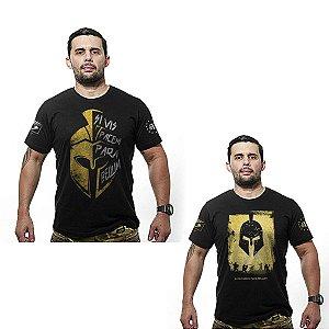 Kit 02 camisetas estampadas Parabellum - Team six