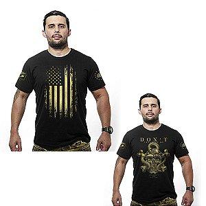Kit 02 camisetas estampadas Gold line - Team six