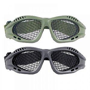 Óculos de proteção telado Bravo para Airsoft (Preto/Verde)