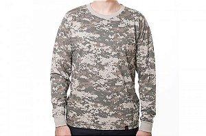 Camiseta Manga Longa Camuflada Army Combat - Bravo