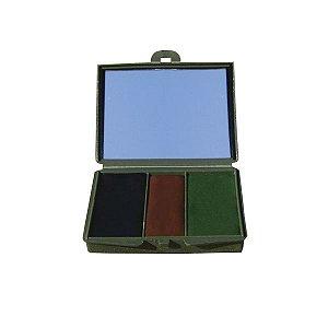 Camuflagem facial 3 cores (com espelho) - Delta tático