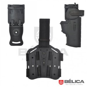 Combo safe bélica - Coldre hammer em polímero + Plataforma de perna + Adaptador de cintura